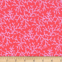 Michael Miller Fabrics Shark Tales Coraline Coral