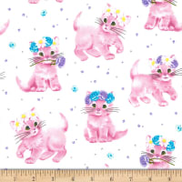 Michael Miller Paw Prints ASPCA Furry Princess Cotton Ball