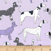 Michael Miller Paw Prints ASPCA Dog Walk Lilac