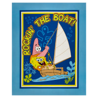 "Nickelodeon Spongebob Rockin The Boat Wallhanging 36"" Panel Blue"