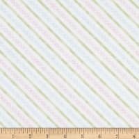 Wilmington Butterfly Haven Diagonal Stripe Pink/Green