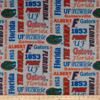 NCAA Fleece Florida Heather Verbiage