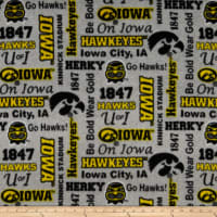 NCAA Iowa Hawkeyes Fleece Heather Verbiage