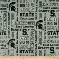 NCAA Fleece Michigan State Heather Verbiage