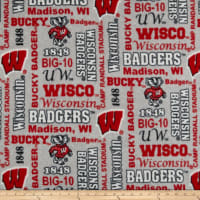 NCAA Fleece Wisconsin Heather Verbiage