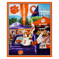 "NCAA Clemson Tigers Digital Tailgate Cotton 36"" Panel"