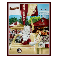 "NCAA Florida State Digital Tailgate Cotton 36"" Panel"