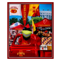"NCAA Iowa State Cyclones Digital Tailgate Cotton 36"" Panel"