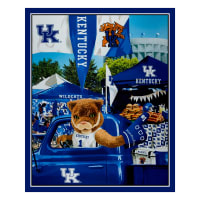 "NCAA Kentucky Wildcats Digital Tailgate Cotton 36"" Panel"