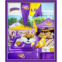 "NCAA Louisiana State Tigers Digital Tailgate Cotton 36"" Panel"