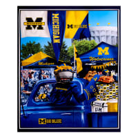 "NCAA Michigan Wolverines Digital Tailgate Cotton 36"" Panel"