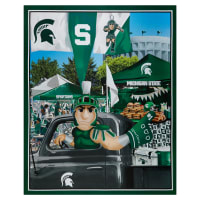 NCAA Michigan State Spartans Digital Tailgate Cotton Panel