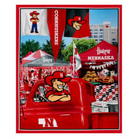 "NCAA Nebraska Digital Tailgate Cotton 36"" Panel"