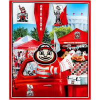 "NCAA Ohio State Buckeyes Digital Tailgate Cotton Panel 36"" x 44"""