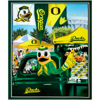 "NCAA Oregon Ducks Digital Tailgate Cotton Panel 36"" x 44"""
