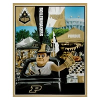 "NCAA Purdue Boilermakers Digital Tailgate Cotton Panel 36"" x 44"""