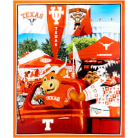 "NCAA Texas Digital Tailgate Cotton Panel 36"" x 44"""