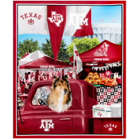 "NCAA Texas A&M Aggies Digital Tailgate Cotton Panel 36"" x 44"""