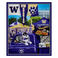 "NCAA Washington Huskies Digital Tailgate Cotton 36"" Panel"