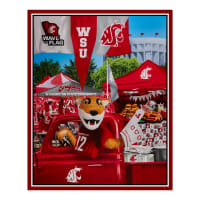 "NCAA Washington State Cougars Digital Tailgate Cotton Panel 36"" x 44"""