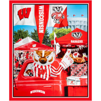 "NCAA Wisconsin Badgers Digital Tailgate Cotton 36"" Panel"