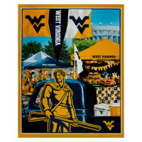 "NCAA West Virginia Mountaineers Digital Tailgate Cotton Panel 36"" x 44"""