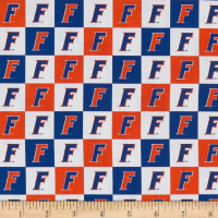 NCAA Cotton Broadcloth Florida Collegiate Check