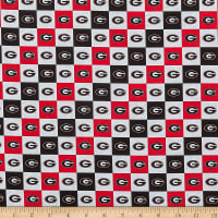 NCAA Cotton Broadcloth Georgia Collegiate Check