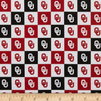 NCAA Cotton Broadcloth Oklahoma Collegiate Check
