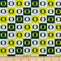NCAA Cotton Broadcloth Oregon Collegiate Check