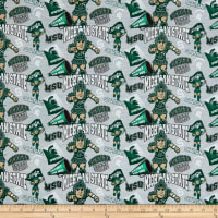 NCAA Cotton Broadcloth Michigan State Collegiate Mascot