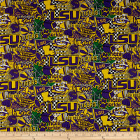 NCAA Louisiana State Tigers Pop Art Cotton