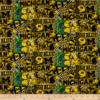 NCAA Michigan Pop Art Cotton