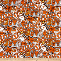 NCAA Texas Longhorns Pop Art Cotton