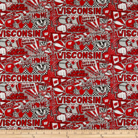 NCAA Wisconsin Pop Art Cotton