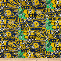 NCAA West Virginia Pop Art Cotton
