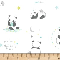 Dear Stella Wide Awake Panda Bears White