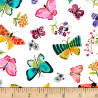 Dear Stella Digital Spring Theory Butterflies White