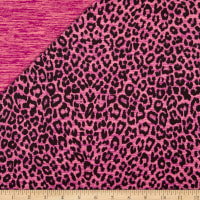 Reversible Leopard Activewear Tricot Pink