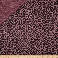 Reversible Leopard Activewear Tricot Dusty Rose