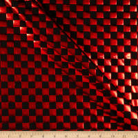 Checker Foil Spandex Knit Black/ Red
