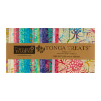 "Timeless Treasures Tonga Batik Treat 5"" Square Pack Aruba"