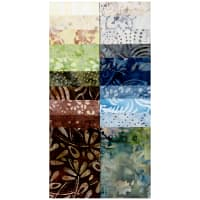 "Timeless Treasures Tonga Batik Treat 2.5"" Strip Pack Skyview"