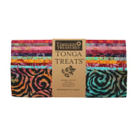 "Timeless Treasures Tonga Batik Treat Dragonfly 10"" Square Pack Dragonfly"