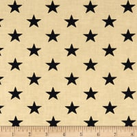 Patriotic Quilt Backs Stars Black/Antique