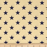 "Patriotic 108"" Quilt Backs Stars Navy/Antique"