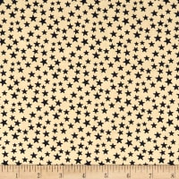 "Patriotic 45"" Quilt Backs Small Stars Black/Antique"