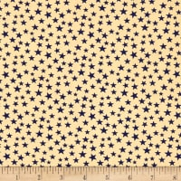"Patriotic 108"" Quilt Backs Small Stars Navy/Antique"