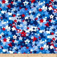 United We Stand Allover Stars Red/White/Blue