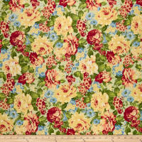 Romantique Digital Print Floral Sage/Blue